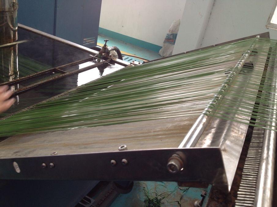 maquinas fabricación césped artificial